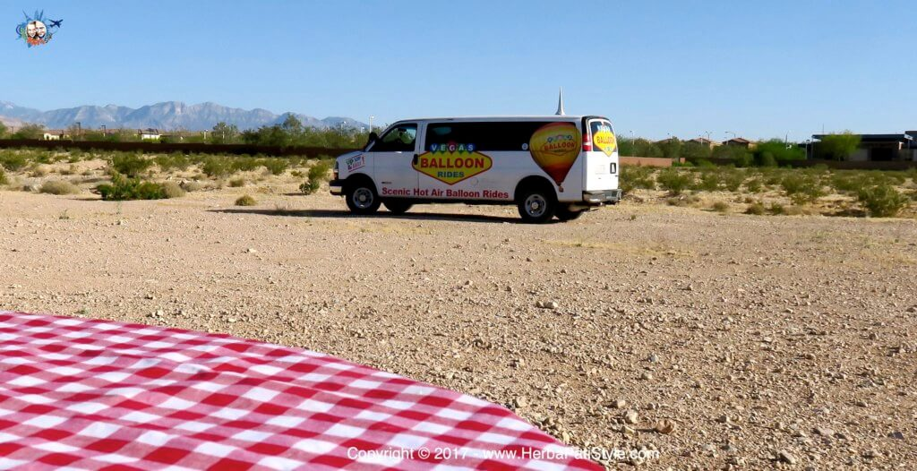 Las Vegas Balloon Rides - il furgoncino