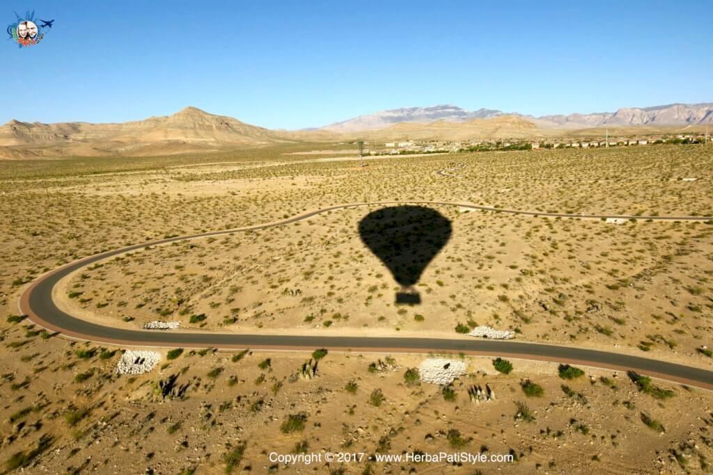 Deserto del Nevada dalla mongolfiera