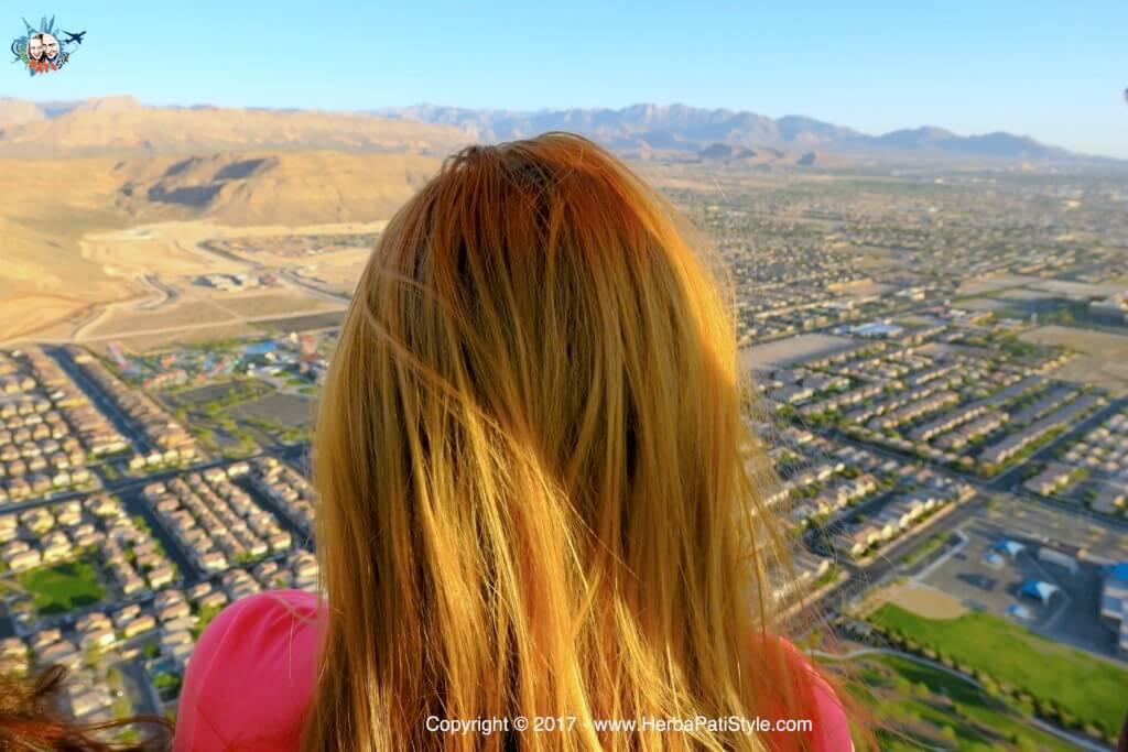 Vista su Las Vegas dalla mongolfiera