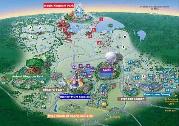 walt disney world orlando - mappa