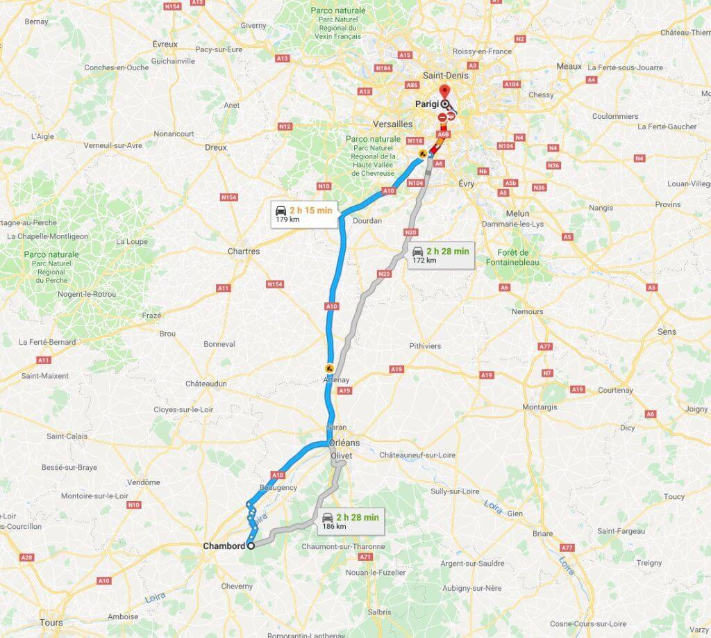 Itinerario in Francia
