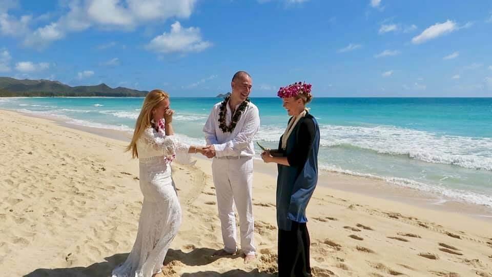 viaggio alle Hawaii - la nostra cerimonia a Waimanalo Beach