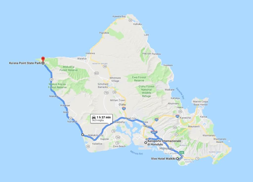 itinerario ad Oahu