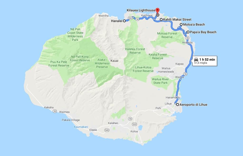 itinerario kauai