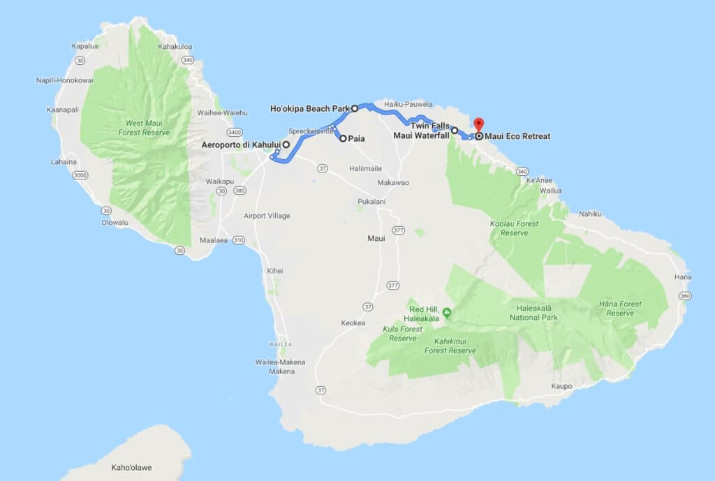 itinerario a Maui